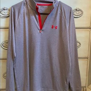 Grey and Red under armour pullover